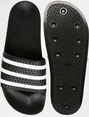 Adidas Originals Adilette Sliders, $40