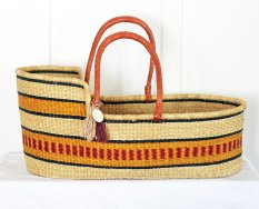 The Young Folk Collective: 'Eye of the Tiger' Moses Basket, $239.00